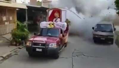 This vehicle that blows up.
