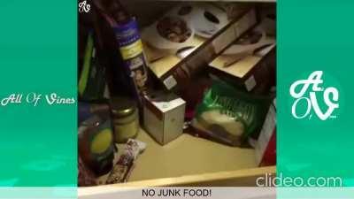 i said no junk food!!