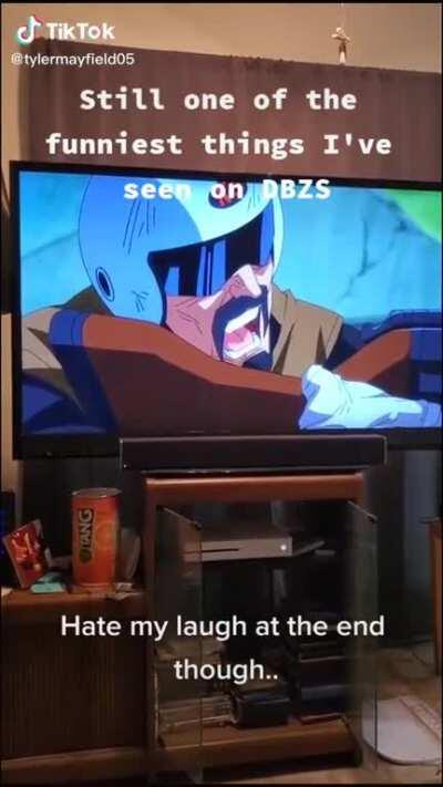 Cell laughing at Dragonball Super Dub