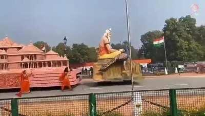 Tableau of Ram mandir that you will see tomorrow in republic day parade