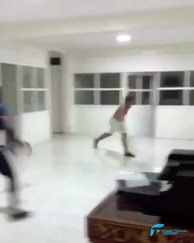 Epic indoor battle 😂