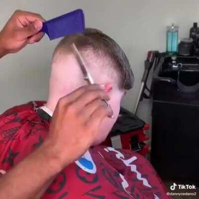 Bruh I thought his hair was about to be seven shades of fuck up
