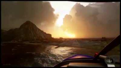 Stormy weather from the new Microsoft Flight Simulator