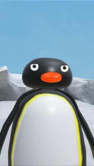 Pingu stumbles upon a murder