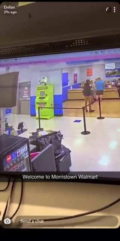 Just another day as a Walmart employee