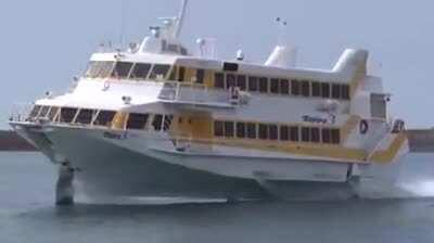 Smooth cruising - Ferry with hydrofoils
