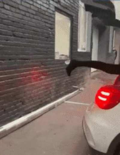 Parking car with leg