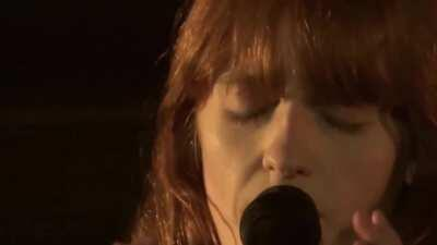 Florence Welch performing 'When in Disgrace with Fortune and Men's Eyes (Sonnet 29)'