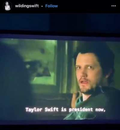 """""""Taylor Swift is president now"""" in Roswell, New Mexico"""