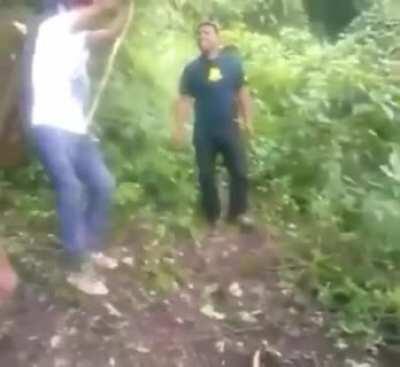 WCGW swinging on a vine?