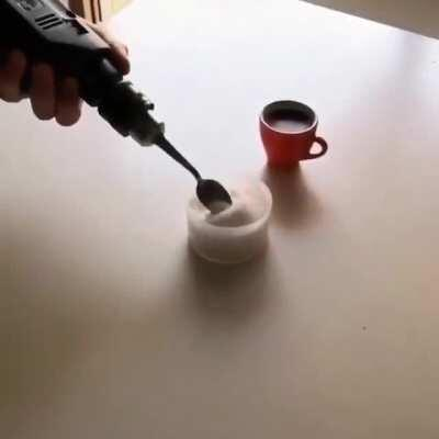 Coffee stirring machine