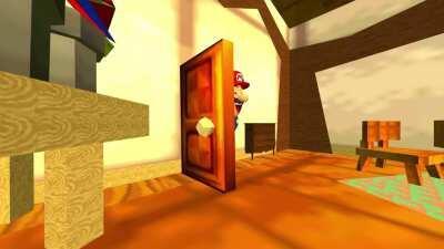 Mario smashed his pingas
