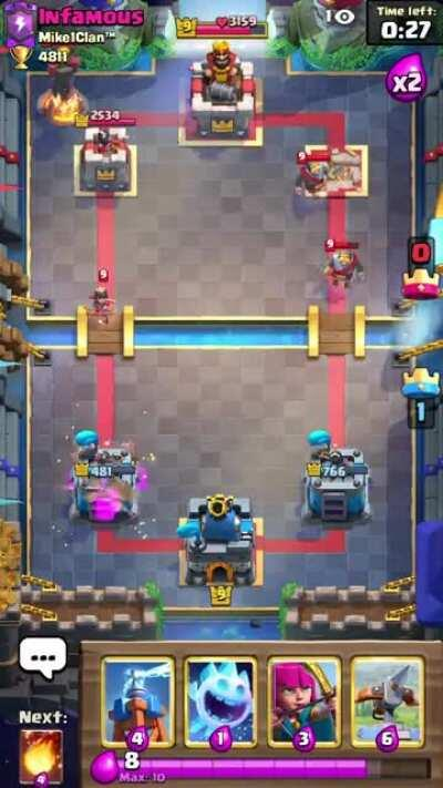 Still possible to hit both princess and goblin barrel if you put the log a tile higher and play it early enough.
