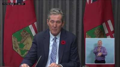 Brian Pallister speaking about the Maples Personal Care Home VS Brian Pallister speaking about spending $60 Million Dollars on Businesses