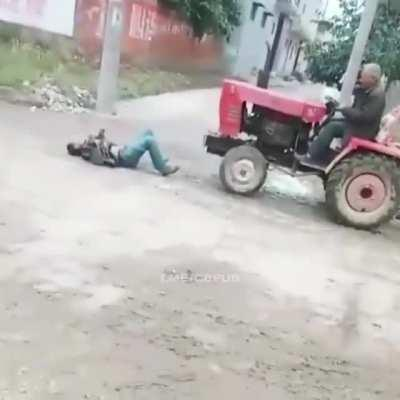 Who says you can't have fun on a tractor
