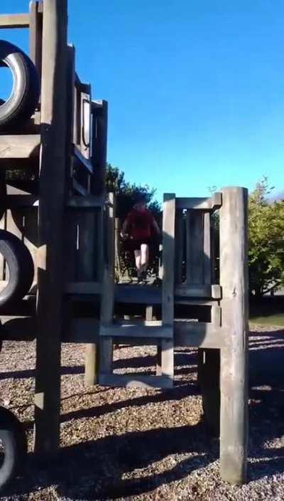 *runs off playground