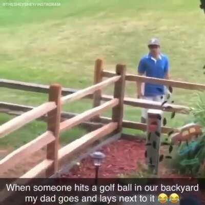 Golfer will be a little careful next time