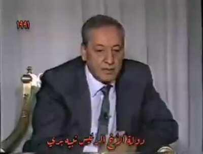 There's always another old video of nabih berry saying exactly the opposite of what he's doing today.