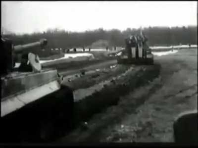 Footage from a gun mounted camera on German Tigers on the Eastern Front.