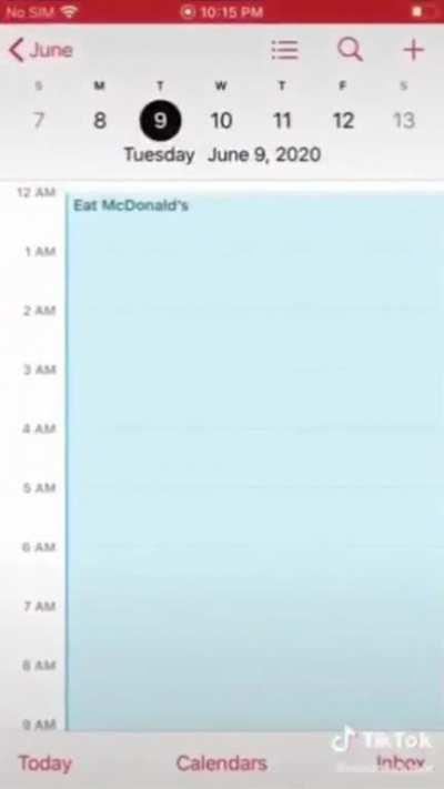 I don't think he likes McDonald's