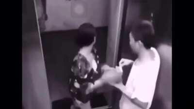 Elevator interaction gone wrong