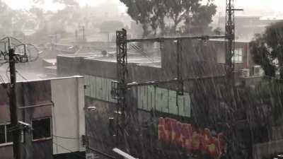 Yesterday's downpour in Melbourne, Australia.