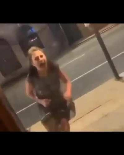 Somebody made a great edit of the crazy woman who wanted to get in without mask