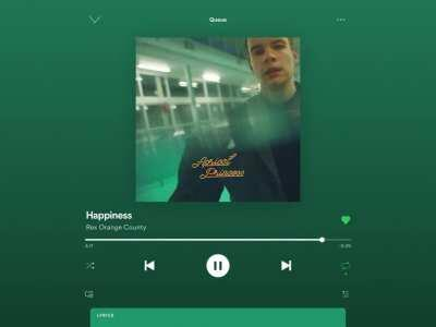 Happiness by Rex Orange County :)