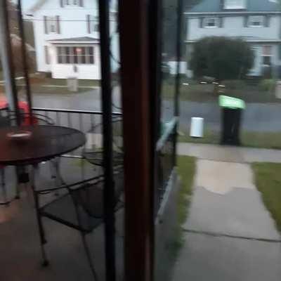 Heavy rain with some lightning! Thought the thunder and lightning was over as I recorded this, but I was wrong.