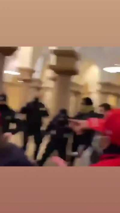 PRO Trump supporters unleash chaoswith Capitol Police inside the Capitol building