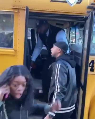 Bus driver kicks a kid out if the bus