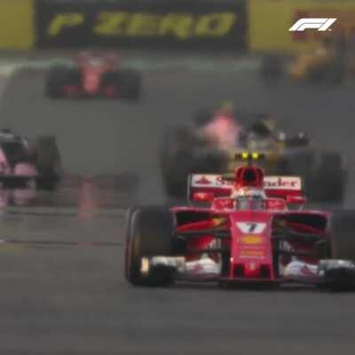 How does Kimi Raikkonen keep the temperatures in the tyre?