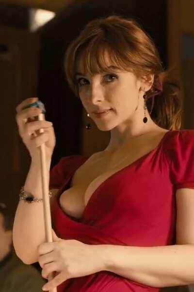 Men in Hope (2011) Vica Kerekes as Sarlota (billiards cleavage) part 4 [cropped, sharpen] 1080p