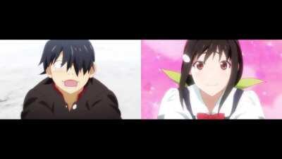 Owari & Zoku Side-by-Side Comparison (Araragi & Hachikuji)