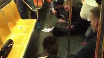 Swedish Police intervening in New York.