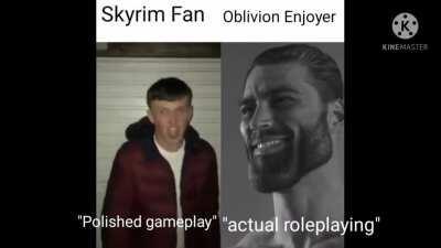 I prefer Oblivion to Skyrim