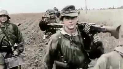 Western front combat footage, France 1944