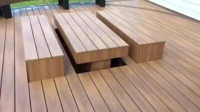 The ultimate space saving party deck