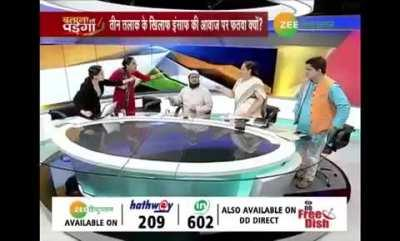 Debate show gets physical on live news