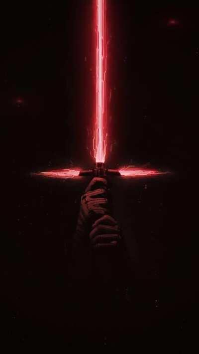 Kylo Ren Lightsaber (Lock Screen Video Wall) looks great on S10 series phones - link in comments