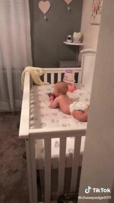 Babies just want privacy for fucks sake