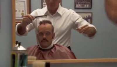 Tobias gets a haircut