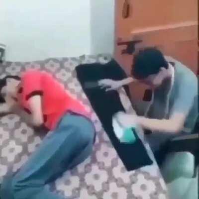 let my man sleep