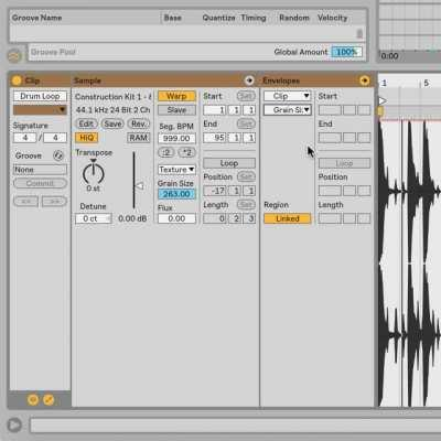 60 Second Tip! Granular Synthesis = Cool Drum FX!
