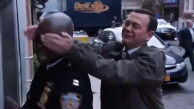 One of Holt's emotional moments