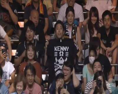 Pro Wrestler Kenny Omega surprises Japanese fans