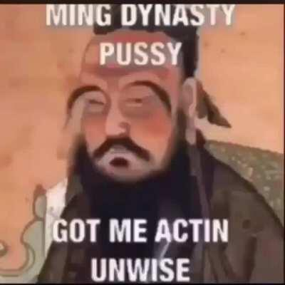 Confucius be spitting facts doe