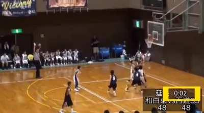 Basketballs equivalent of a hail Mary.