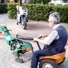 Just another old guy riding his dinosaur