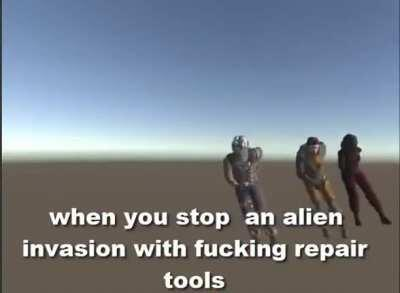Time to stop those aliens again caw caw